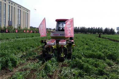 德邦大为两行免耕播种机参加2017首届中国(北方)农业机械田间日活动