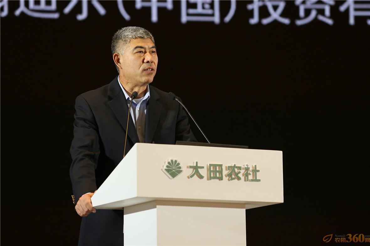 约翰迪尔(中国)投资有限公司总裁刘镜辉从农机企业的角度,介绍了约翰迪尔先进的数字农业技术。