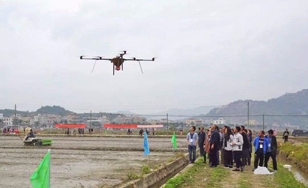 推广植保无人机播种技术,提升水稻生产机械化水平