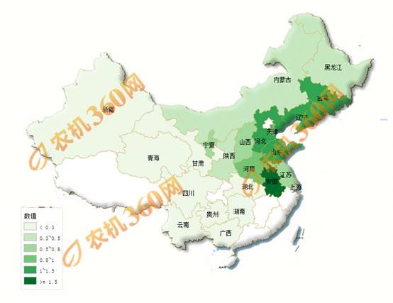 玉米收获机保有量及饱和度分析.png