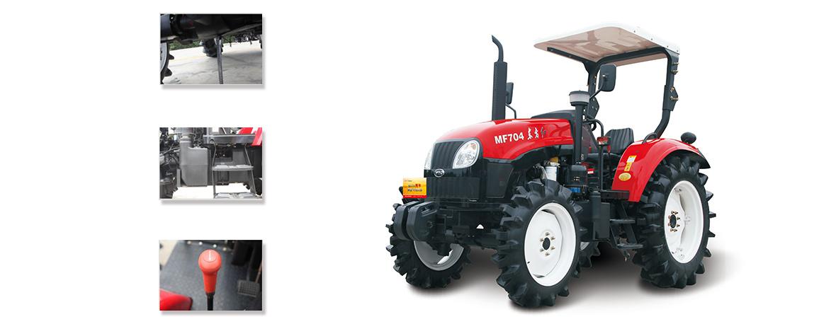 方红MF704型(水田)轮式拖拉机细节