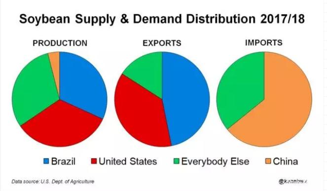 任重道远!进口大豆抢占我国半壁市场,国产大豆种植锐减近一半!