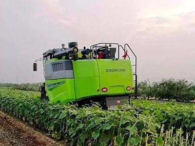 自走式油葵收割机研发成功