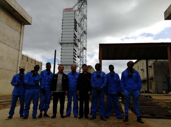 德邦大为莫桑比克300T粮食烘干机项目成功落成