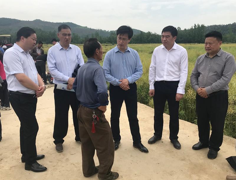 全国油料作物生产全程机械化薄弱环节技术研讨会机具现场演示在南漳召开