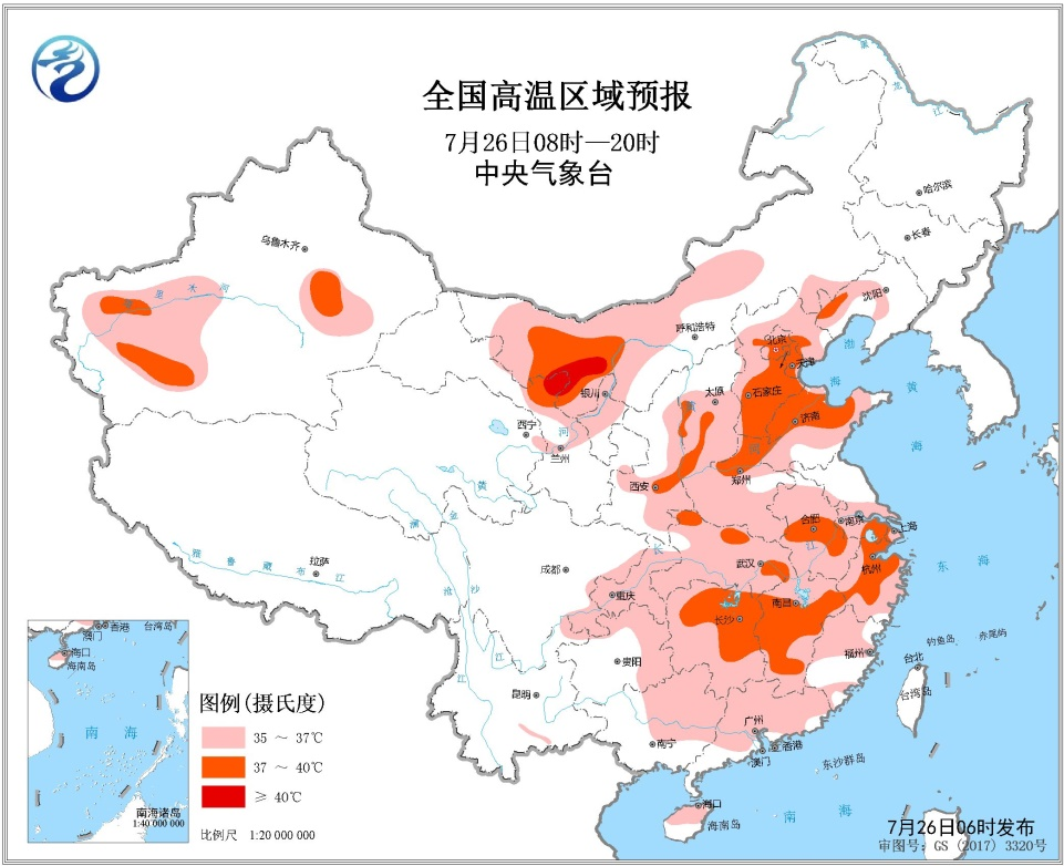 未来三天全国天气预报:四川盆地及北方地区将有较强降水过程  华北及其以南地区有高温天气