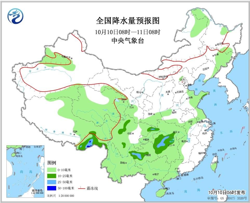 未来三天全国天气预报:西南地区多阴雨天气  冷空气影响内蒙古东部华北东北地区