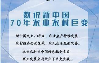 《数说新中国70年农业农村巨变》发布