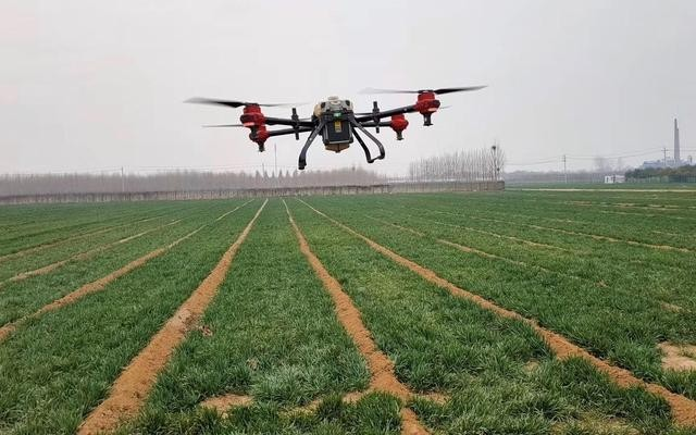 """一天""""搞定""""2500亩麦田 无人机春耕减少人力负担"""