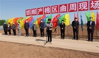 河北省棉花全程机械化现场演示会在邯郸市曲周胜利召开
